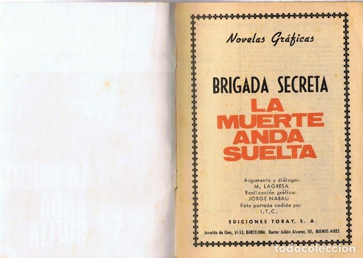 Tebeos: BRIGADA SECRETA LA MUERTE ANDA SUELTA Nº 178 - Foto 2 - 140925298