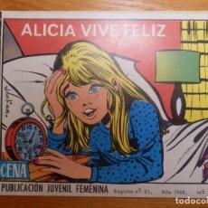 Tebeos: TEBEO-COMIC P/ NIÑAS - REVISTA JUVENIL FEMENINA AZUCENA - ALICIA VIVE FELIZ - Nº 1039. Lote 142113250