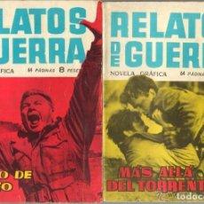 Tebeos: RELATOS DE GUERRA, NOVELA GRÁFICA, 15 X 21. AÑO 1961 COLECCIÓN COMPLETA SON 226. TEBEOS ORIGINALES. Lote 142409150
