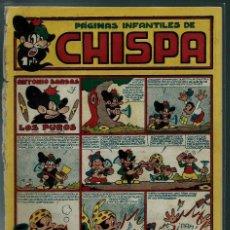 Tebeos: CHISPA Nº 2 - TORAY 1947 - ORIGINAL - CON IRANZO, AYNE, ETC. . - MUY RARO DE VER Y DIFICIL. Lote 143045210