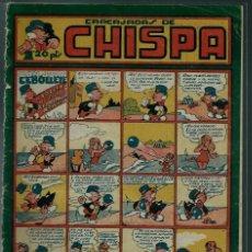 Tebeos: CHISPA Nº 9 - TORAY 1947 - ORIGINAL - CON IRANZO, AYNE, COLL, ETC. . - MUY RARO DE VER Y DIFICIL. Lote 143045466