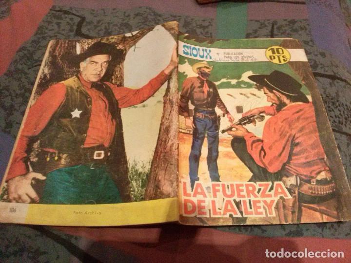 SIOUX Nº 106 LA FUERZA DE LA LEY EDITORIAL TORAY (Tebeos y Comics - Toray - Sioux)
