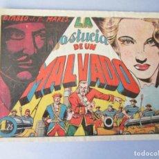 Tebeos: DIABLO DE LOS MARES, EL (1947, TORAY) 43 · 1947 · LA ASTUCIA DE UN MALVADO. Lote 145902130
