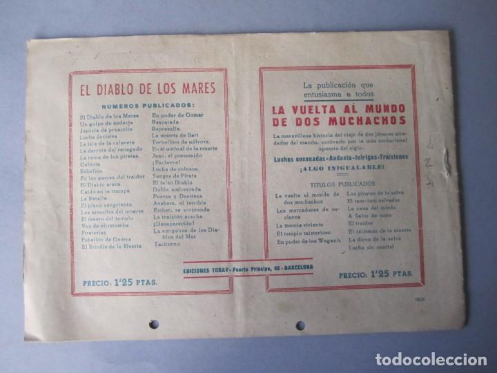 Tebeos: DIABLO DE LOS MARES, EL (1947, TORAY) 39 · 1947 · EL TACITURNO - Foto 2 - 145902362