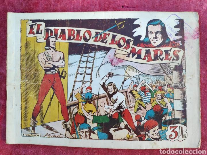 Tebeos: LOTE DE 7 TEBEOS - EL DIABLO DE LOS MARES - Nº 1 VOLUMENES : I-II-III-IV-VI-XVII-XIX - ORIGINALE - Foto 2 - 146223800
