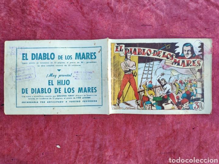 Tebeos: LOTE DE 7 TEBEOS - EL DIABLO DE LOS MARES - Nº 1 VOLUMENES : I-II-III-IV-VI-XVII-XIX - ORIGINALE - Foto 5 - 146223800