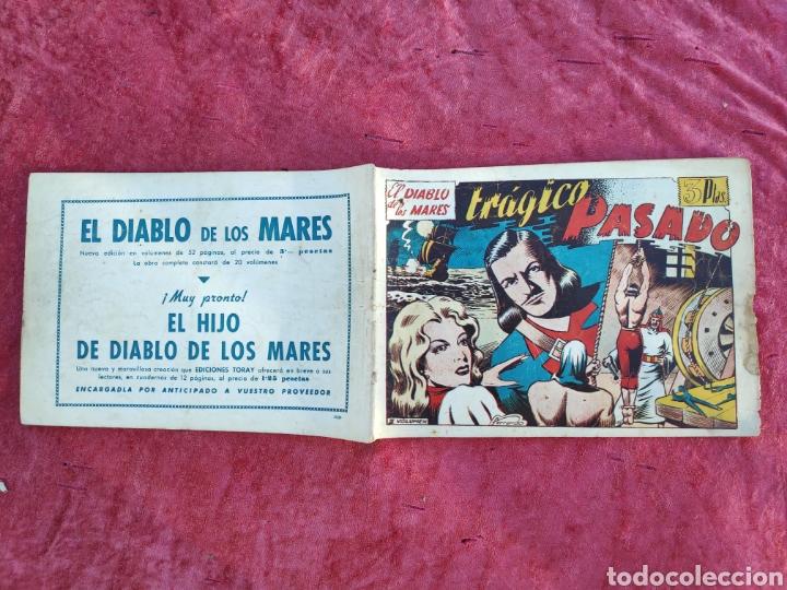 Tebeos: LOTE DE 7 TEBEOS - EL DIABLO DE LOS MARES - Nº 1 VOLUMENES : I-II-III-IV-VI-XVII-XIX - ORIGINALE - Foto 9 - 146223800