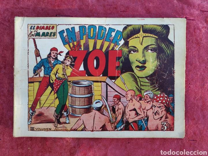 Tebeos: LOTE DE 7 TEBEOS - EL DIABLO DE LOS MARES - Nº 1 VOLUMENES : I-II-III-IV-VI-XVII-XIX - ORIGINALE - Foto 10 - 146223800