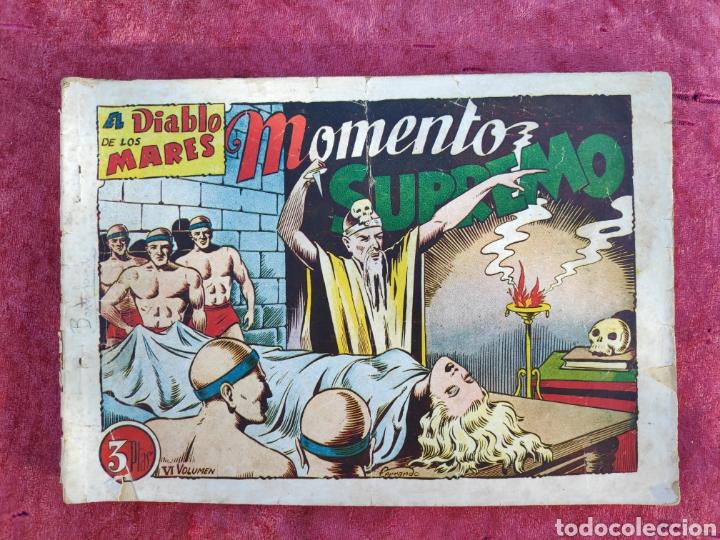 Tebeos: LOTE DE 7 TEBEOS - EL DIABLO DE LOS MARES - Nº 1 VOLUMENES : I-II-III-IV-VI-XVII-XIX - ORIGINALE - Foto 18 - 146223800