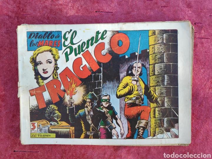 Tebeos: LOTE DE 7 TEBEOS - EL DIABLO DE LOS MARES - Nº 1 VOLUMENES : I-II-III-IV-VI-XVII-XIX - ORIGINALE - Foto 22 - 146223800