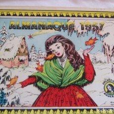 Tebeos: REVISTA JUVENIL FEMENINA AZUCENA ALMANAQUE 1957. Lote 146699474