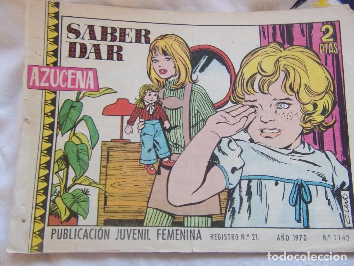 REVISTA JUVENIL FEMENINA AZUCENA AÑO 1970 NUM 1143- SABER DAR (Tebeos y Comics - Toray - Azucena)