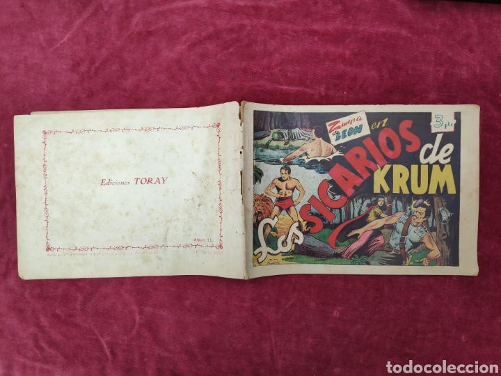 Tebeos: TEBEO ZARPA DE LEON - LOS SICARIOS DE KRUM- ALBUM II- ORIGINAL - Foto 6 - 147148852