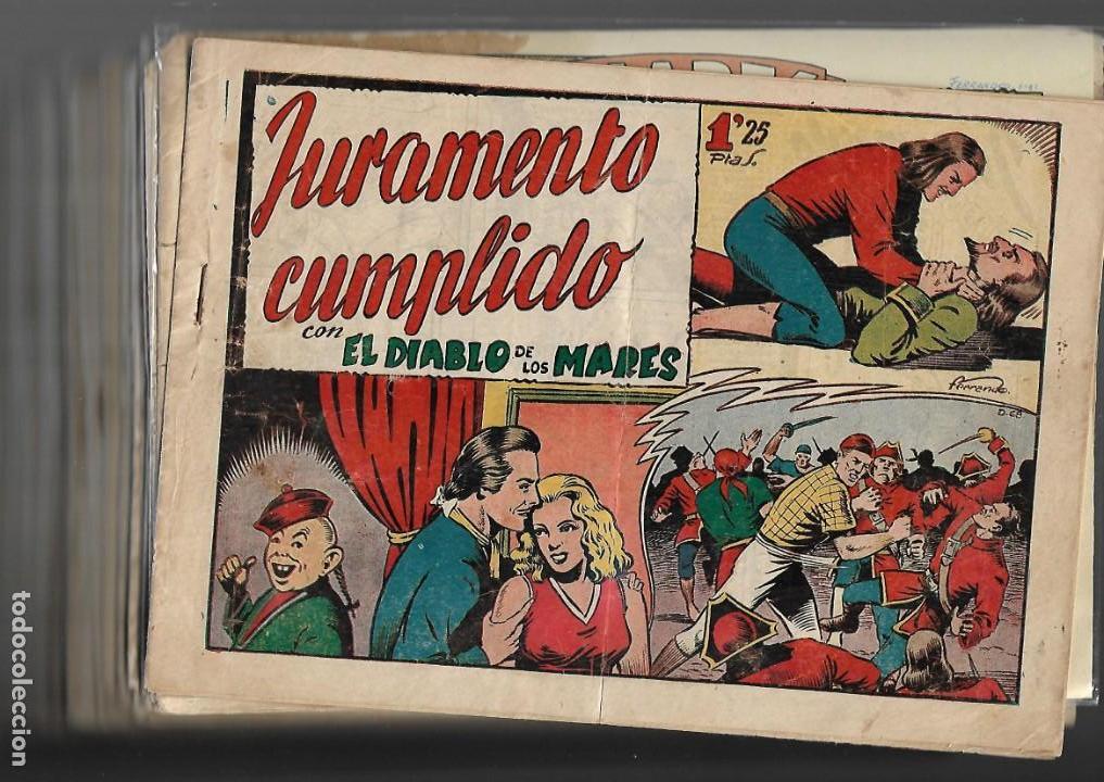 Tebeos: El Diablo de los Mares, Año 1.947 Colección Completa son 68 Tebeos + Almanaque 1948 de Ferrando. - Foto 2 - 139805446