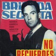 Tebeos: BRIGADA SECRETA - Nº 134 - NO RECUERDES EL PASADO-GRAN A.P. CARRILLO-1966-CORRECTO-DIFÍCIL-LEAN-0116. Lote 148978781