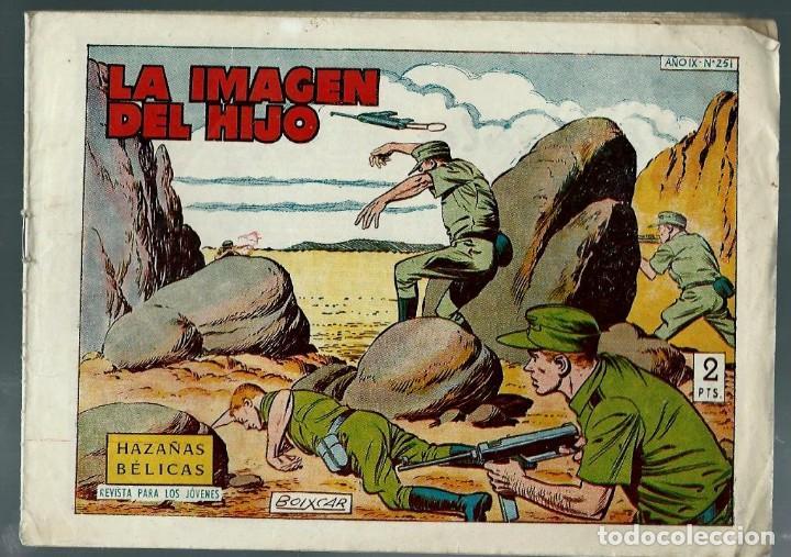 HAZAÑAS BELICAS SEGUNDA SERIE Nº 251 - LA IMAGEN DEL HIJO - TORAY 1960 - ORIGINAL (Tebeos y Comics - Toray - Hazañas Bélicas)