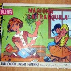 Tebeos: AZUCENA – REVISTA JUVENIL FEMENINA- AÑO 1967 Nº 1012 MARIOLA LA TRANQUILA BUEN ESTADO. Lote 148160454