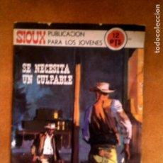 BDs: PUBLICACION PARA JOVENES SIOUX CAP ,SE NECESITA UN CULPABLE AÑO 1971. Lote 150719286