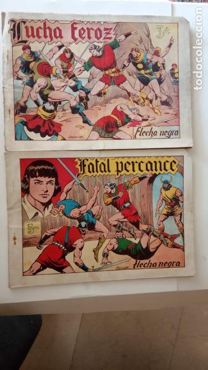 FLECHA NEGRA ORIGINALES , ALBUM NºS 5 Y 6 - 1950 TORAY - DIBUJOS DE BOIXCAR - HU (Tebeos y Comics - Toray - Flecha Negra)