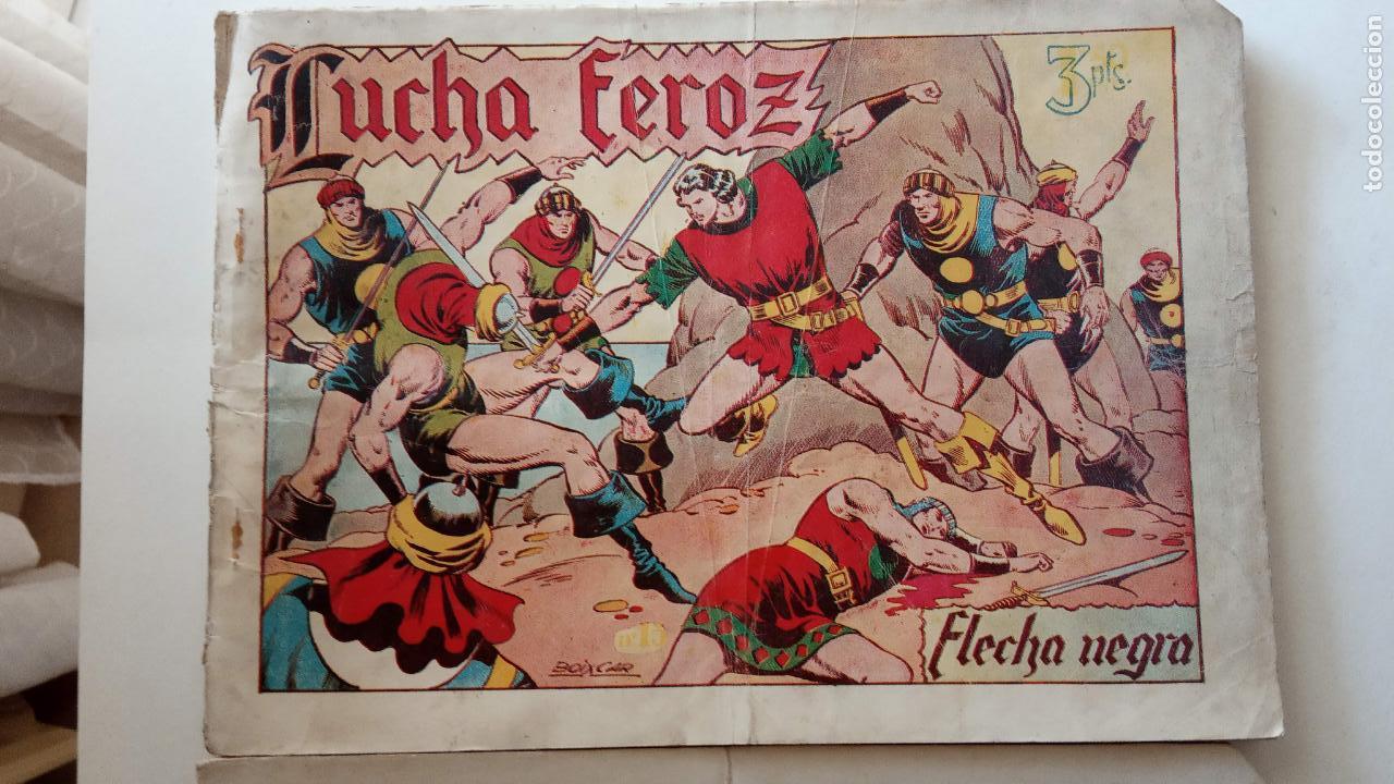 Tebeos: FLECHA NEGRA ORIGINALES , ALBUM NºS 5 Y 6 - 1950 TORAY - DIBUJOS DE BOIXCAR - HU - Foto 3 - 150840710