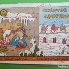 Tebeos: CUENTOS AZUCENA , NUMERO 0 , DE 3 PTAS , RECOPILA 4 CUENTOS , ROSA GALCERAN , TORAY 1948. Lote 151611078