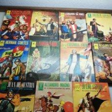 Tebeos: HOMBRES FAMOSOS LOTE DE 11 LIBROS, NUMERACIÓN: 3, 4,6,7,8,9,10 ,11,12,14 ,Y 15 EDICIONES TORAY. Lote 151900794