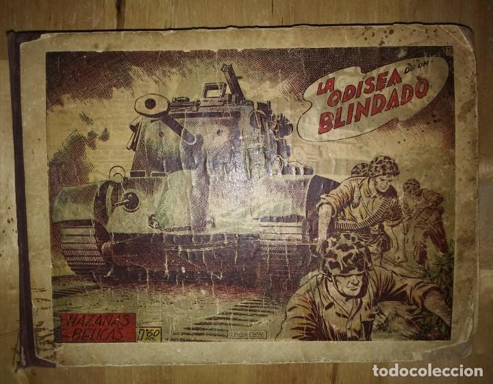 Tebeos: Hazañas Bélicas 25 numeros encuadernados del 76 al 100 mas almanaque 1954 que esta delante - Foto 2 - 115144015