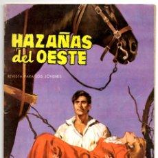 Tebeos: HAZAÑAS DEL OESTE Nº 40 (TORAY 1963) CONTRAPORTADA ES LÁMINA DE LAUREN GOODWIN.. Lote 153479514