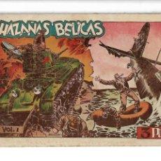 Tebeos: HAZAÑAS BÉLICAS 1ª SERIE ALBUM, COLECCIÓN COMPLETA SON 7. VOLUMENES SON ORIGINALES AÑO 1950.. Lote 261121660