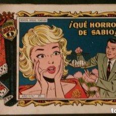 Tebeos: ¿QUÉ HORROR DE SABIO!-COLECCIÓN AZUCENA-EDITORIAL TORAY. Lote 153914310