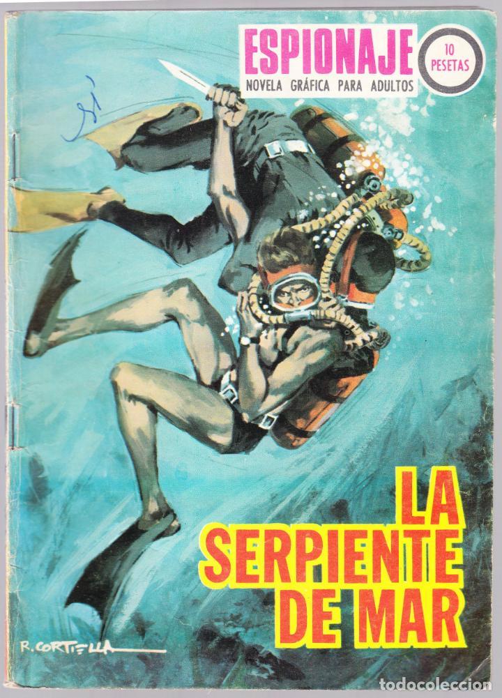 ESPIONAJE - LA SERPIENTE DE MAR - 1967 - TRASERA ALEX SIMMONS (Tebeos y Comics - Toray - Espionaje)