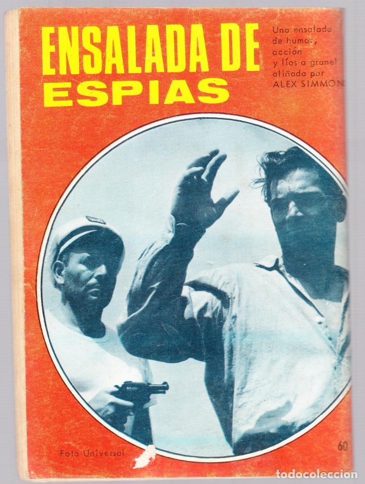 Tebeos: ESPIONAJE - LA SERPIENTE DE MAR - 1967 - TRASERA ALEX SIMMONS - Foto 2 - 154136238