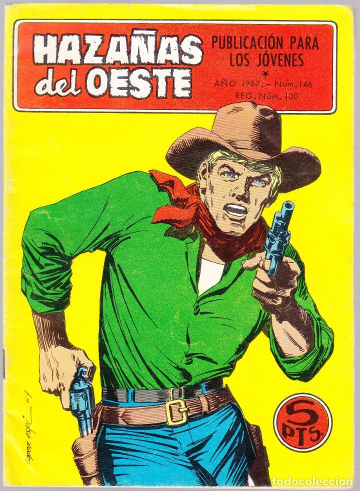 HAZAÑAS DEL OESTE Nº 146 - JOHNNY EL DE LA SUERTE - PISTOLA DE MADERA - TRASERA FOTO PELICULA (Tebeos y Comics - Toray - Hazañas del Oeste)