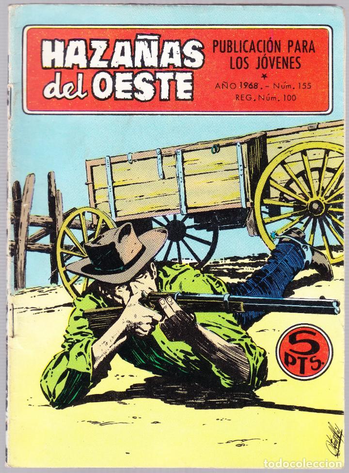 HAZAÑAS DEL OESTE Nº 155 - PARTIDA PELIGROSA - TRAICION AL AMANECER - TRASERA FOTO PELICULA (Tebeos y Comics - Toray - Hazañas del Oeste)
