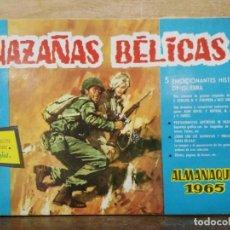 Tebeos: HAZAÑAS BÉLICAS - ALMANAQUE 1965 - ED. TORAY. Lote 154598390