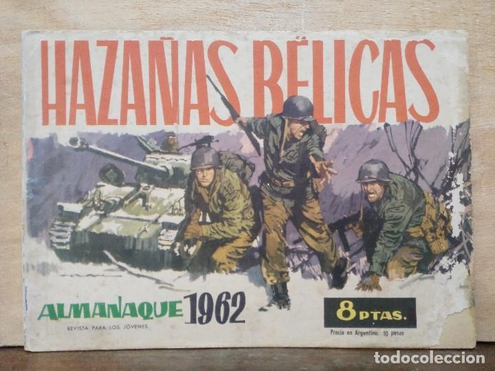 HAZAÑAS BÉLICAS - ALMANAQUE 1962 - ED. TORAY (Tebeos y Comics - Toray - Hazañas Bélicas)
