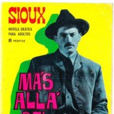 Tebeos: SIOUX Nº 54 - MAS ALLA DEL RENCOR - 1966 - TRASERA MAY BRITT. Lote 154616954
