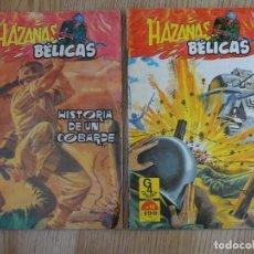 Tebeos: LOTE 2 HAZAÑAS BÉLICAS MUERTOS TAMBIÉN LUCHAN HISTORIA COBARDE Nº 7 Y 11 G4 TORAY MARCO IBERICA. Lote 154644138