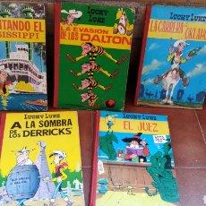 Tebeos: LUCKY LUKE COLECCION TORAY 1969 , EL JUEZ LA INVASIÓN DE LOS DALTON LA CARRERA DE OKLAHOMA ,. Lote 154656782