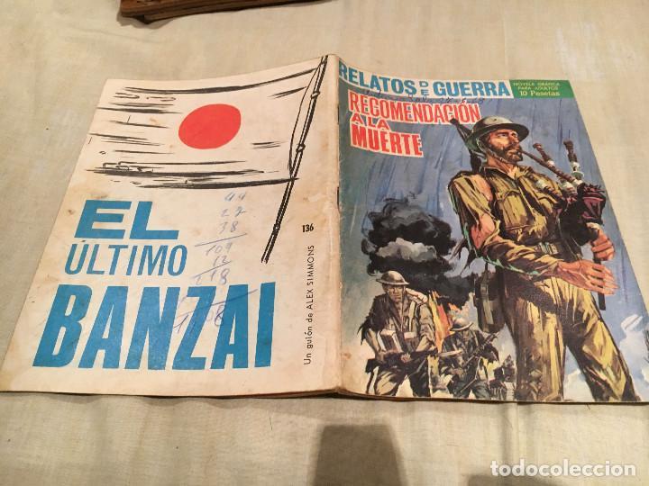 RELATOS DE GUERRA Nº 136 RECOMENDACION A LA MUERTE - EDICIONES TORAY - 1967 (Tebeos y Comics - Toray - Otros)