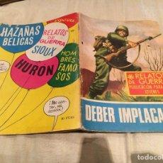 Tebeos: RELATOS DE GUERRA Nº 154 -DEBER IMPLACABLE - EDICIONES TORAY - 1968. Lote 154806082