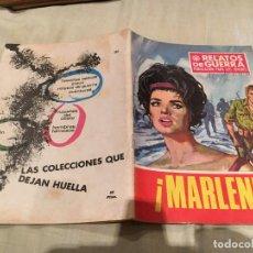 Tebeos: RELATOS DE GUERRA Nº 180- MARLENE - EDICIONES TORAY - 1969. Lote 154807878