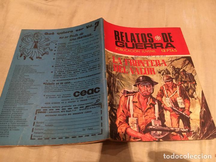 RELATOS DE GUERRA - Nº221 -LA FRONTERA DEL VALOR - EDICIONES TORAY - 1971 (Tebeos y Comics - Toray - Otros)