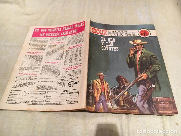 SIOUX Nº181 - EL ORO Y LOS COYOTES - EDICIONES TORAY-1971 (Tebeos y Comics - Toray - Sioux)