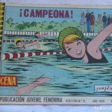 Tebeos: REVISTA JUVENIL FEMENINA AZUCENA NÚM. 1092- ¡ CAMPEONA !. Lote 155426466