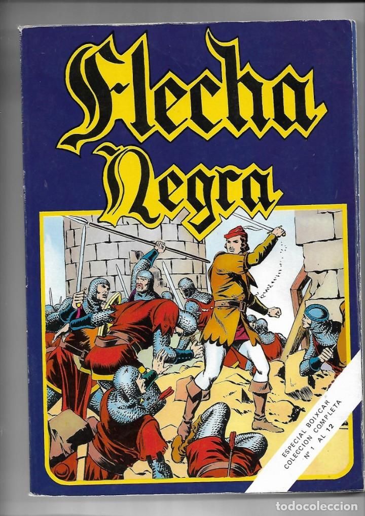 FLECHA NEGRA, AÑO 1982. COLECCIÓN COMPLETA SON 12. TEBEOS RETAPADOS EN UN TOMO DIBUJANTE BOIXCAR. (Tebeos y Comics - Toray - Flecha Negra)