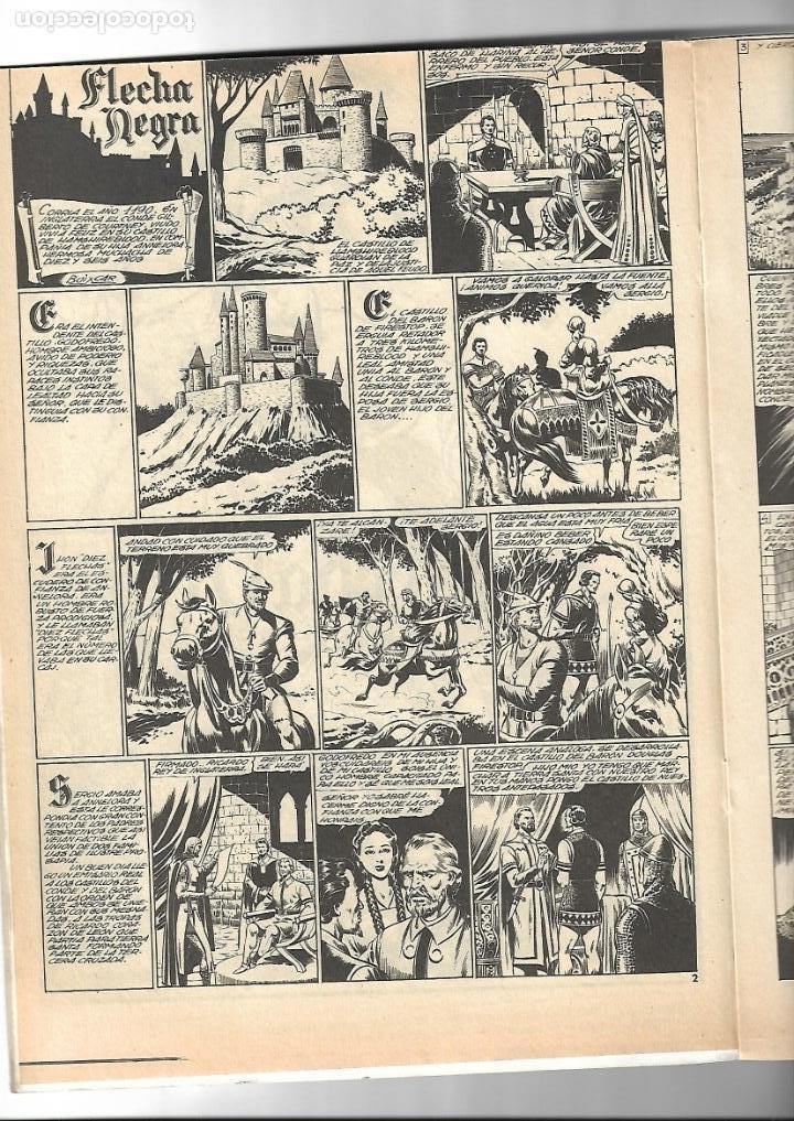 Tebeos: Flecha Negra, Año 1982. Colección Completa son 12. Tebeos Retapados en un tomo Dibujante Boixcar. - Foto 2 - 155577642
