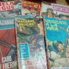 Tebeos: LOTE 6 COMICS HAZAÑAS BELICAS. Lote 155853380
