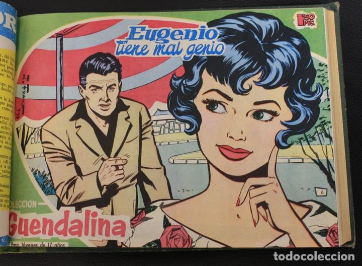 Tebeos: GUENDALINA. NUM. 1 AL 25 + ALMANAQUE 1960. ENCUADERNADOS EN TOMO. TORAY, 1959 - Foto 2 - 156046150