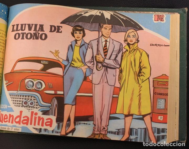 Tebeos: GUENDALINA. NUM. 1 AL 25 + ALMANAQUE 1960. ENCUADERNADOS EN TOMO. TORAY, 1959 - Foto 3 - 156046150
